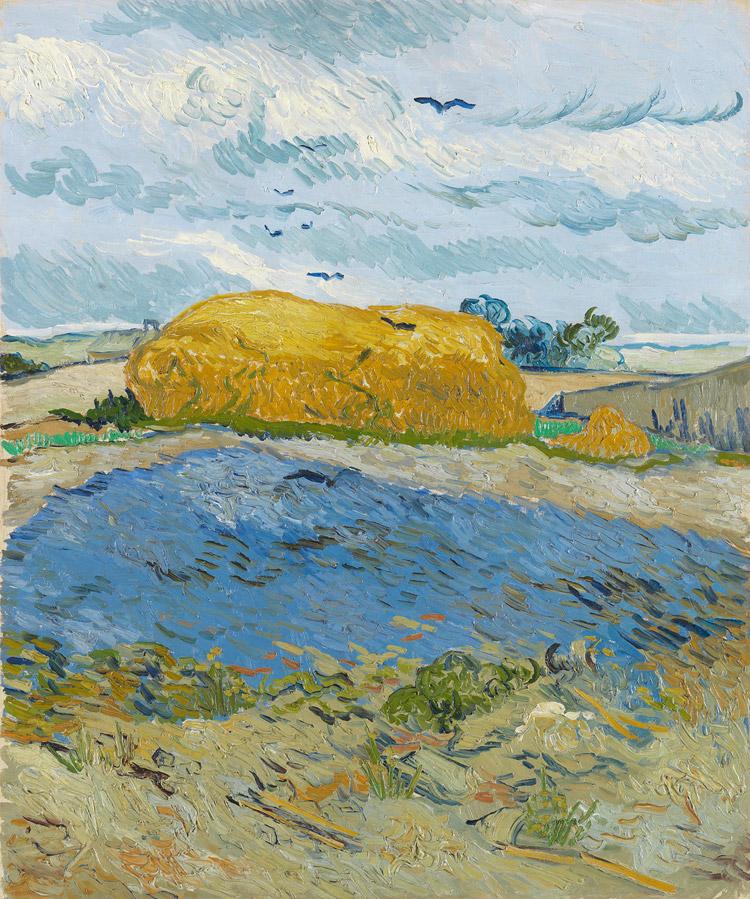 Vincent van Gogh, Covone sotto un cielo nuvoloso