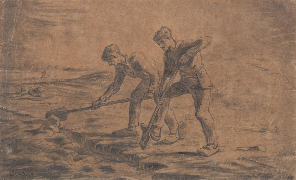 Vincent van Gogh, Due zappatori (da Jean-François Millet)