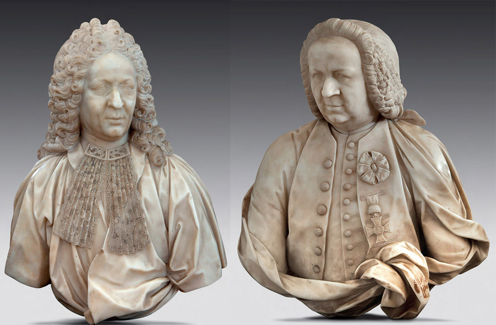 Giovanni Antonio Cybei, i due busti marmorei della Collezione Cavallini Sgarbi (dettagli dei singoli busti nelle foto seguenti)