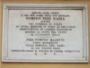 La lapide di Castelfiorentino