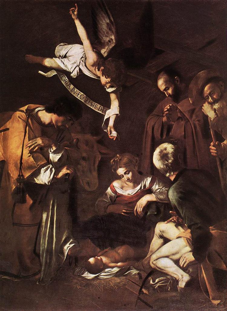 Caravaggio, Natività con i santi Lorenzo e Francesco