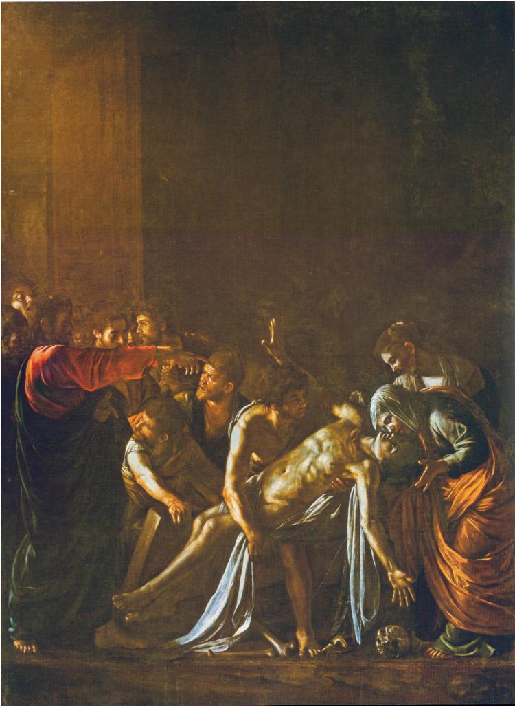 Caravaggio, La resurrezione di Lazzaro