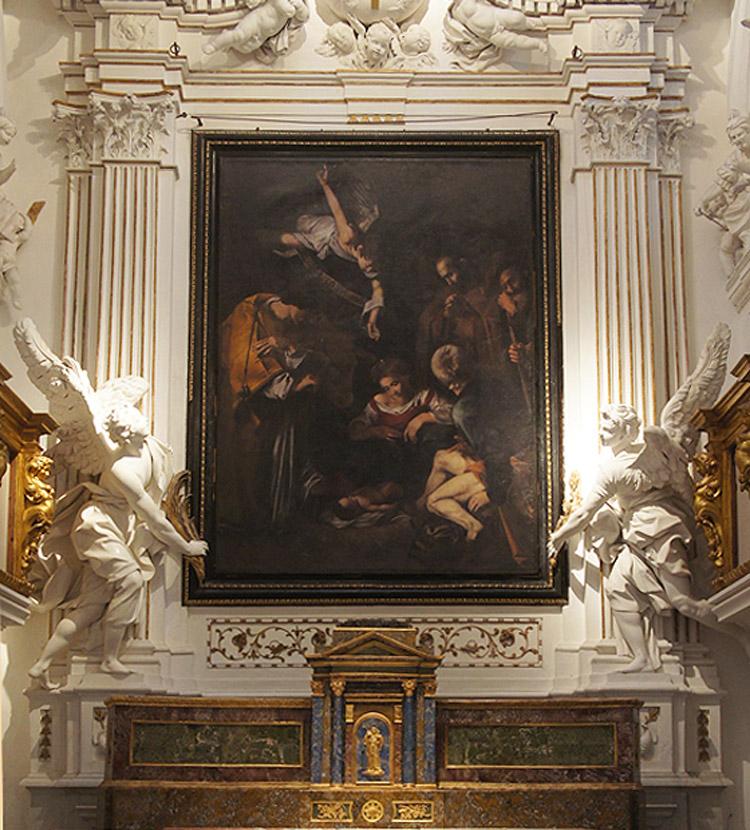 L'altare oggi con la riproduzione di Factum Arte. Copyright Factum Arte