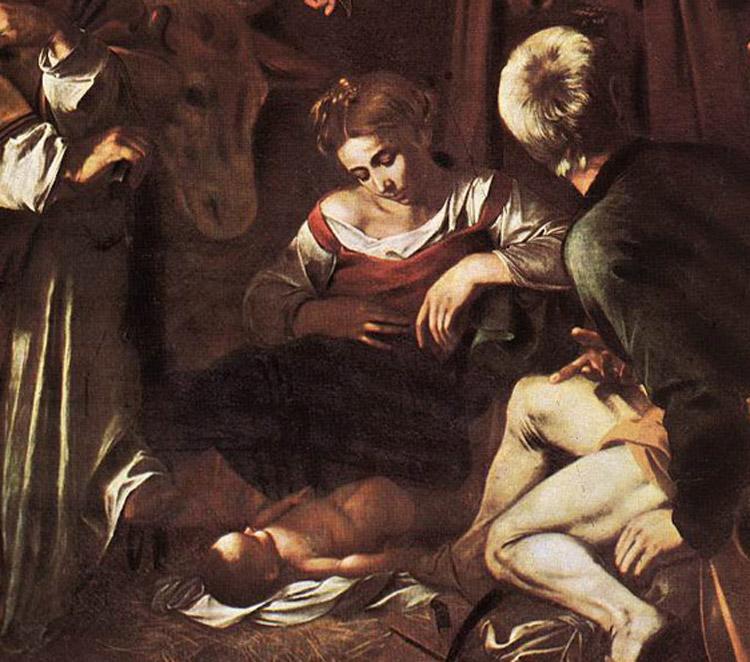 Dettaglio con il Bambino, la Madonna e san Giuseppe