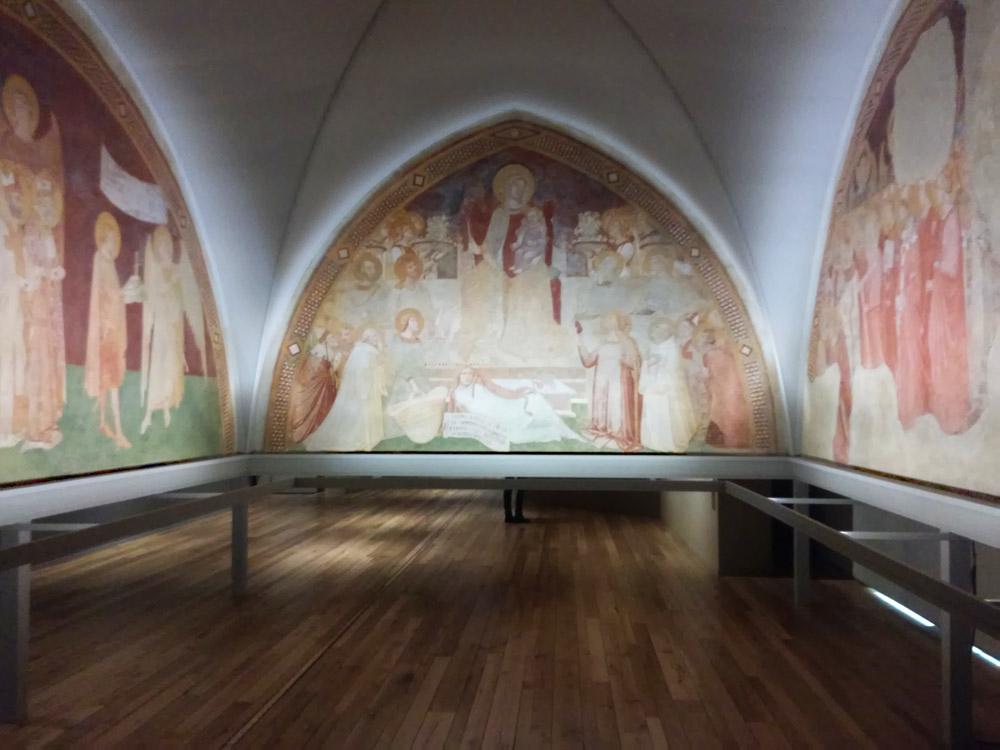 Ambrogio Lorenzetti, affreschi dell'eremo di Montesiepi