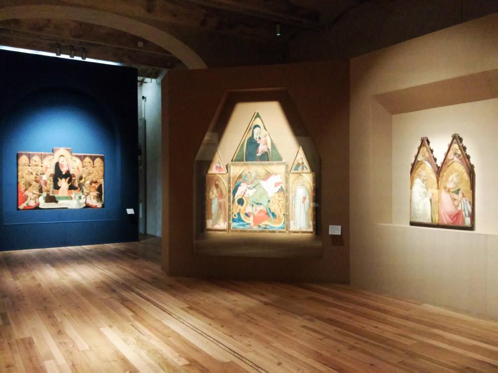 Sala della mostra Ambrogio Lorenzetti a Siena