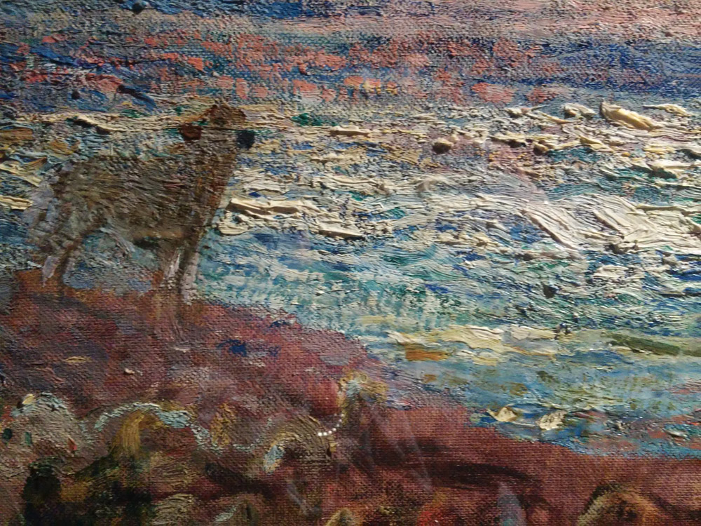 Plinio Nomellini, Pascoli sul mare