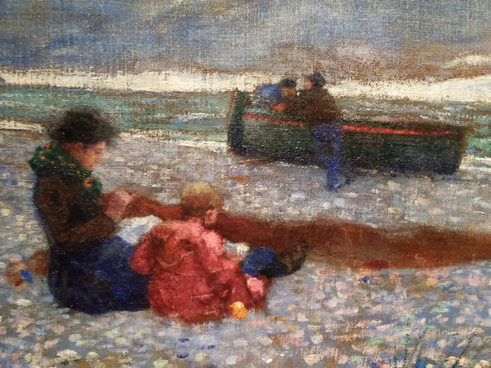 Sulla spiaggia, dettaglio