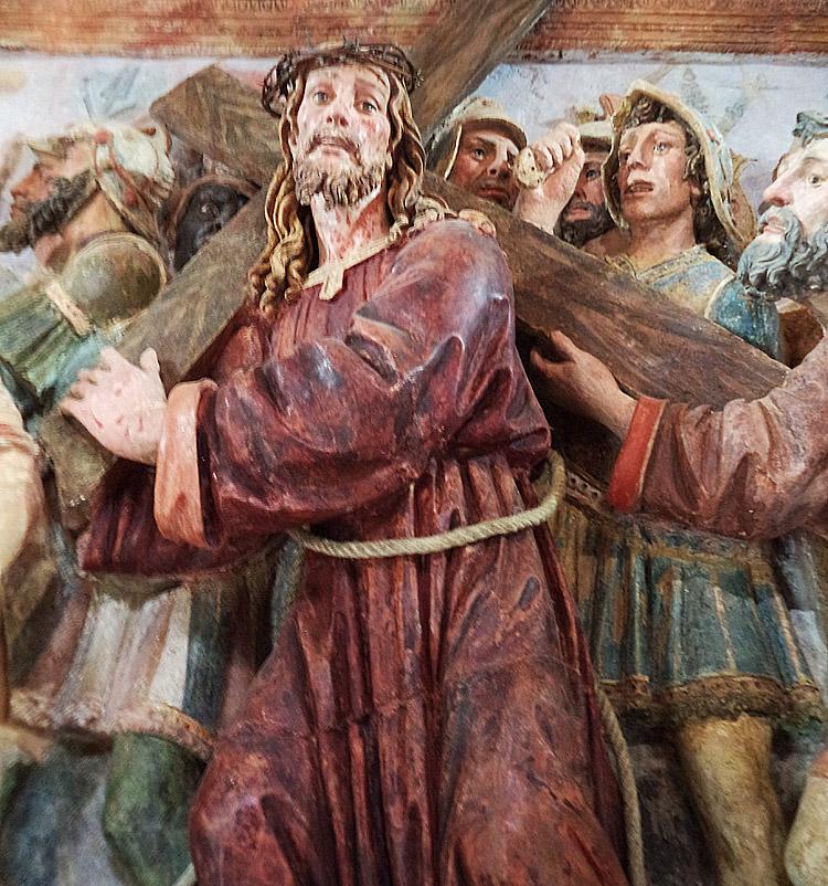 La figura di Gesù nell'andata al Calvario