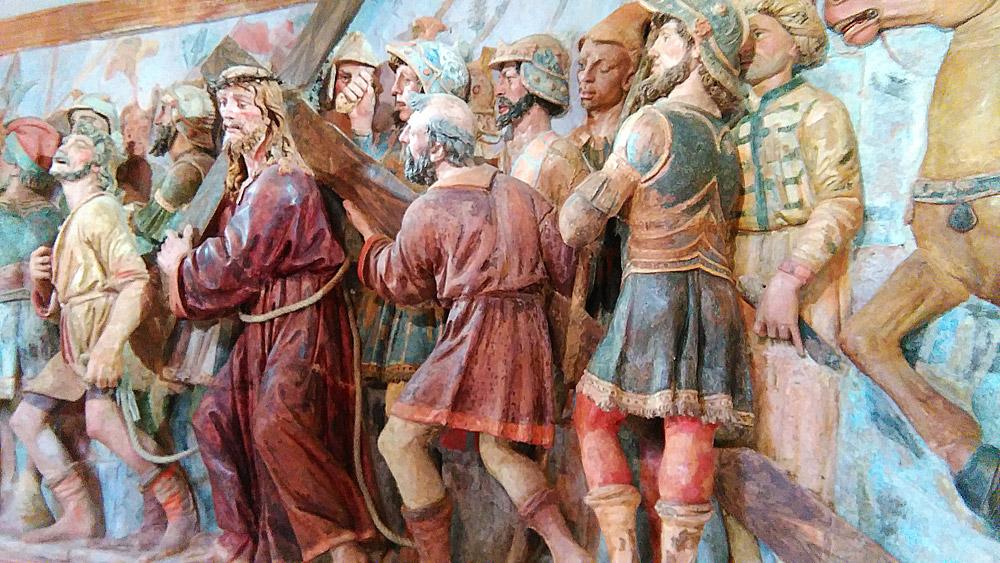 Sacro Monte di San Vivaldo, l'andata al Calvario
