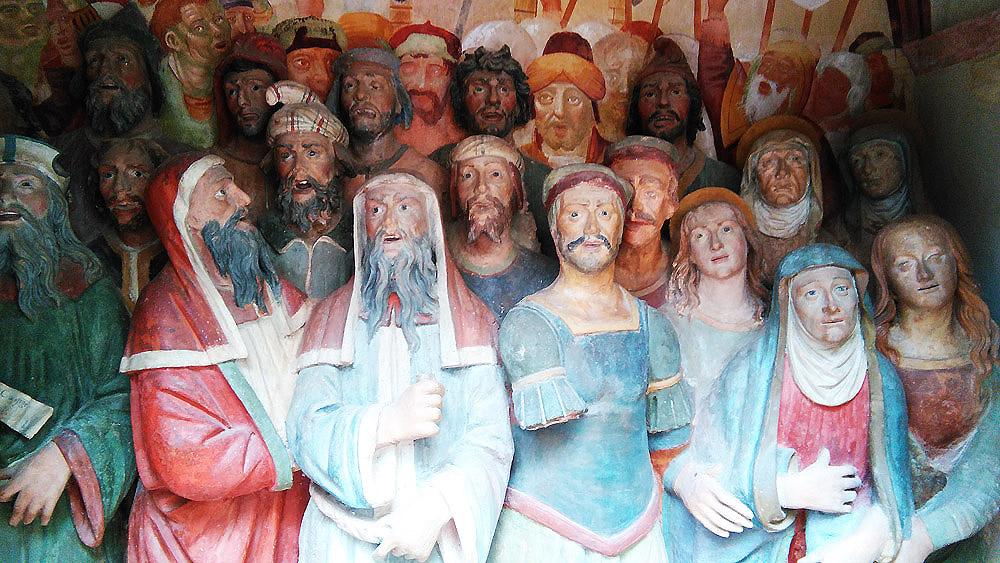 Edicola del Crucifige, dettaglio