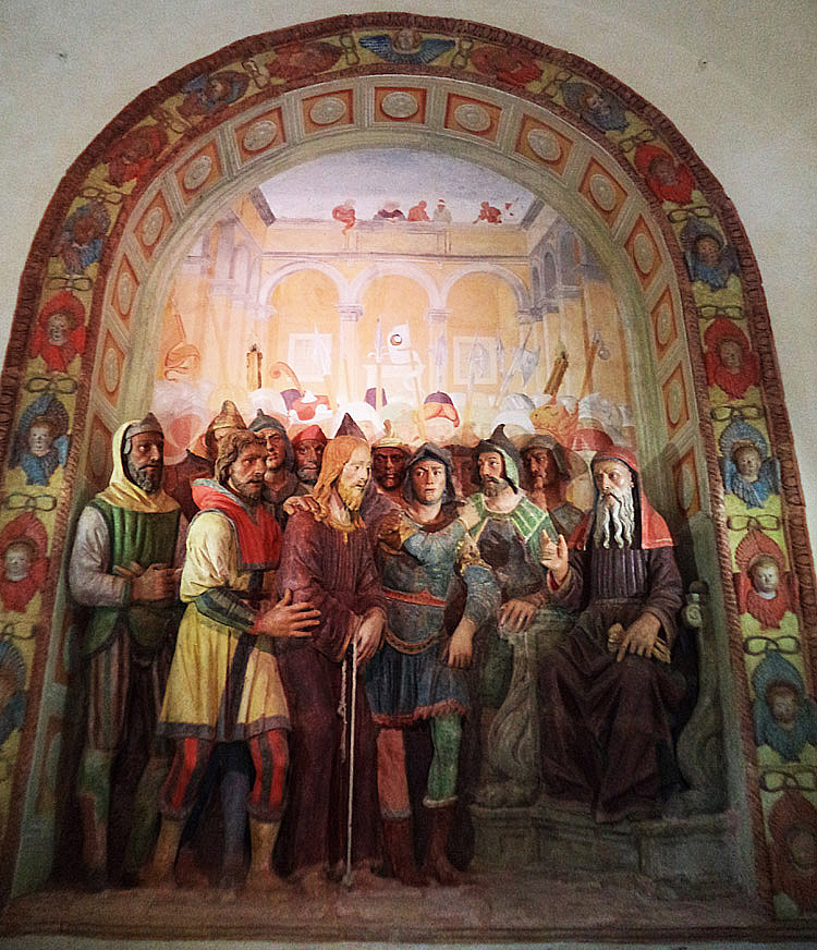 Gesù davanti ad Anna
