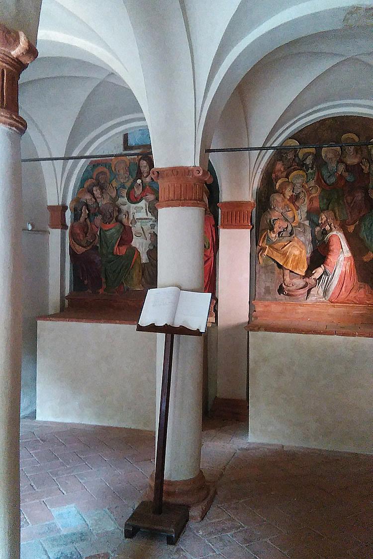 Interno della Cappella del Cenacolo