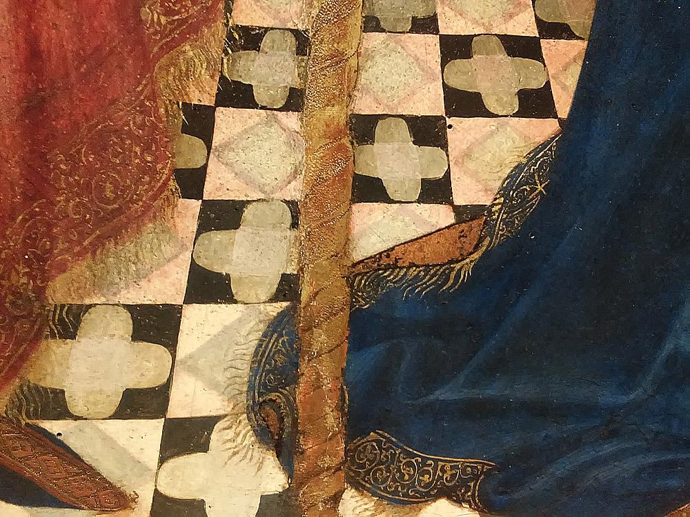 Ambrogio Lorenzetti, Annunciazione, dettaglio