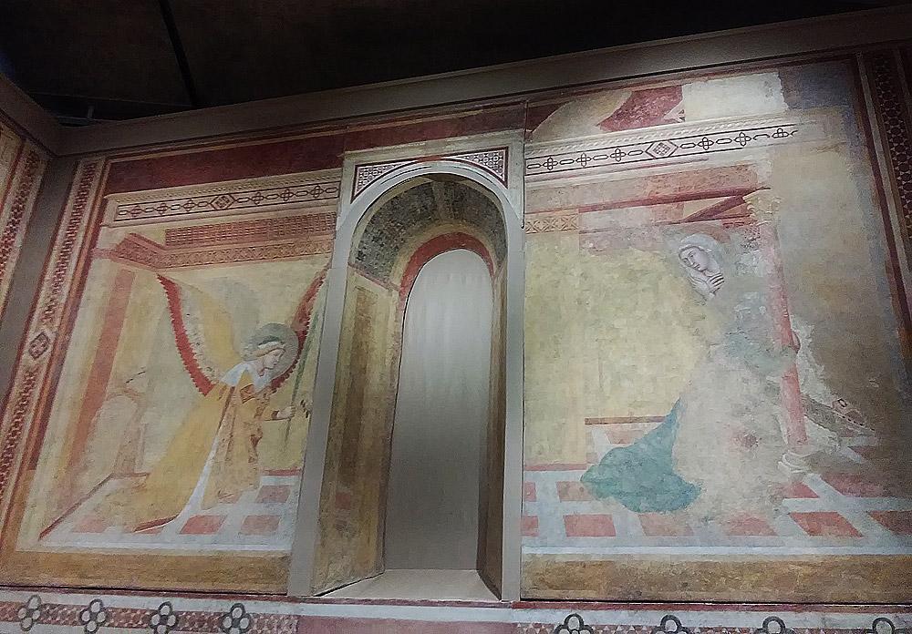 Ambrogio Lorenzetti, Affreschi di Montesiepi, Annunciazione