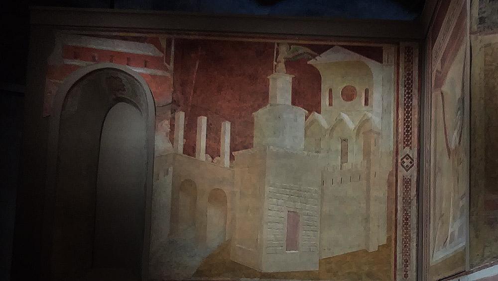 Ambrogio Lorenzetti, Affreschi di Montesiepi, Veduta di Roma