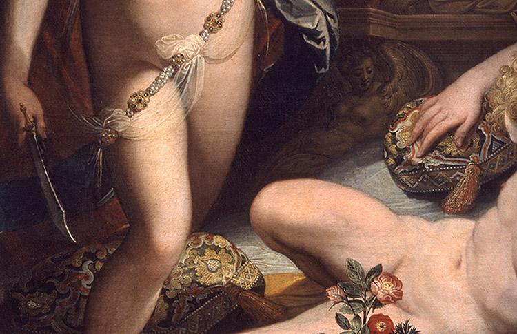 Jacopo Zucchi, Amore e Psiche, dettaglio