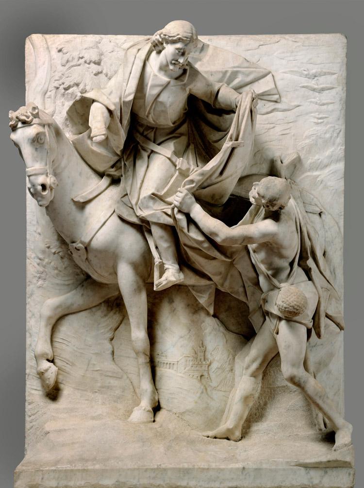 Pietro Bernini, San Martino divide il mantello col povero