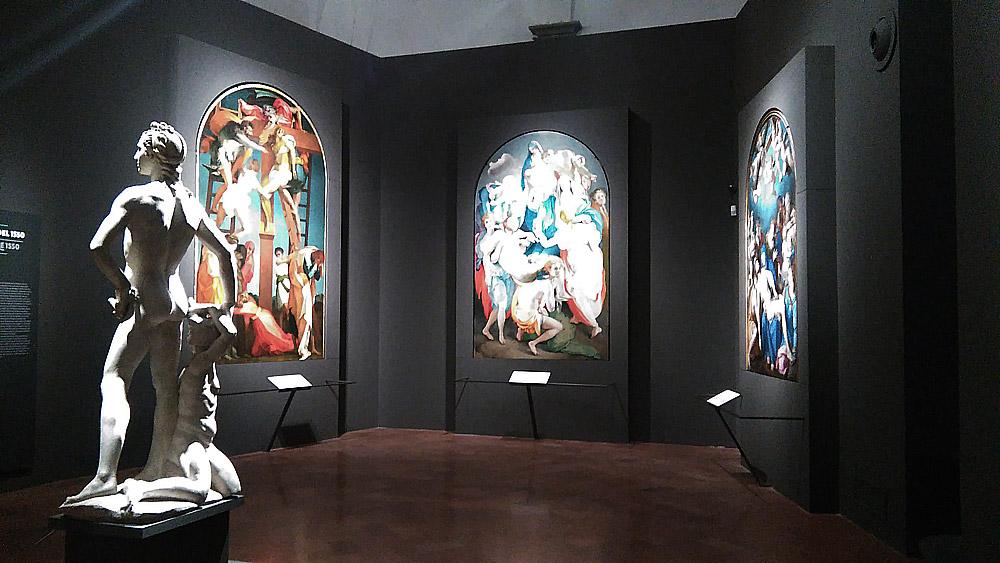Le tre deposizioni alla mostra di Palazzo Strozzi a Firenze