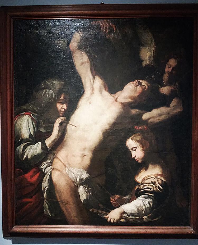 Luigi Miradori detto il Genovesino,  San Sebastiano curato da Irene