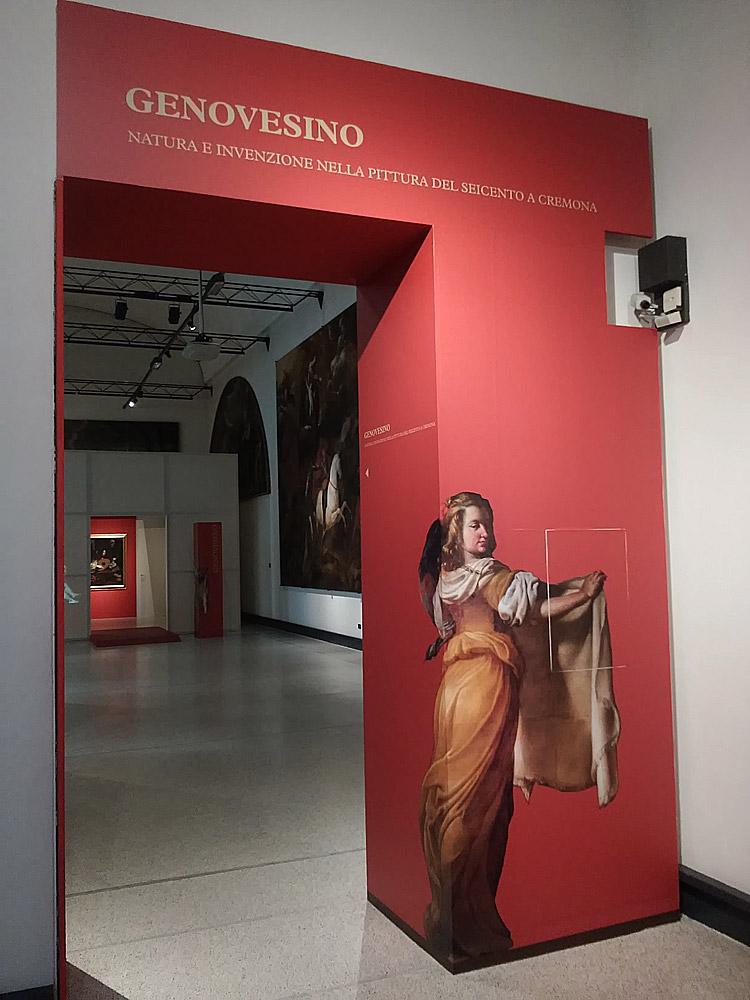 L'ingresso della mostra sul Genovesino al Museo Civico Ala Ponzone di Cremona