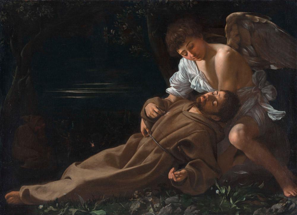 Caravaggio, San Francesco in estasi