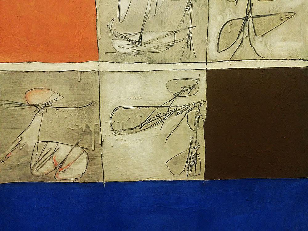 Achille Perilli, Cima del vuoto. La solidità del silenzio, dettaglio