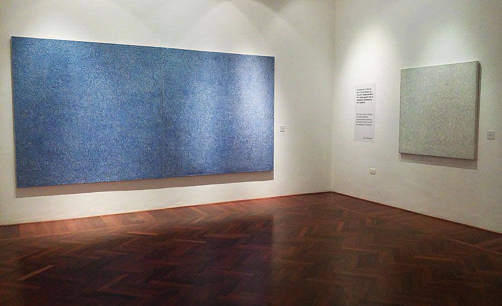Opere di Sergi Barnils alla mostra Alfabeto segnico