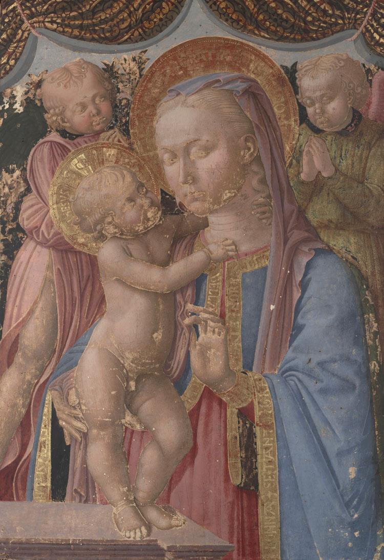 Zanobi Machiavelli, Madonna col Bambino e angeli (1460-1470 circa; tavola; New Haven, Yale University Art Gallery)