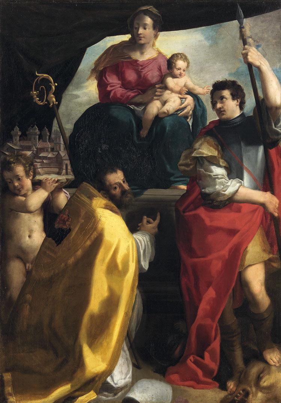 Carlo Bononi, Madonna col Bambino in trono e i santi Maurelio e Giorgio