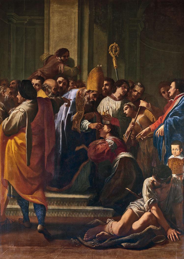 Carlo Bononi, San Paterniano che risana la cieca Silvia