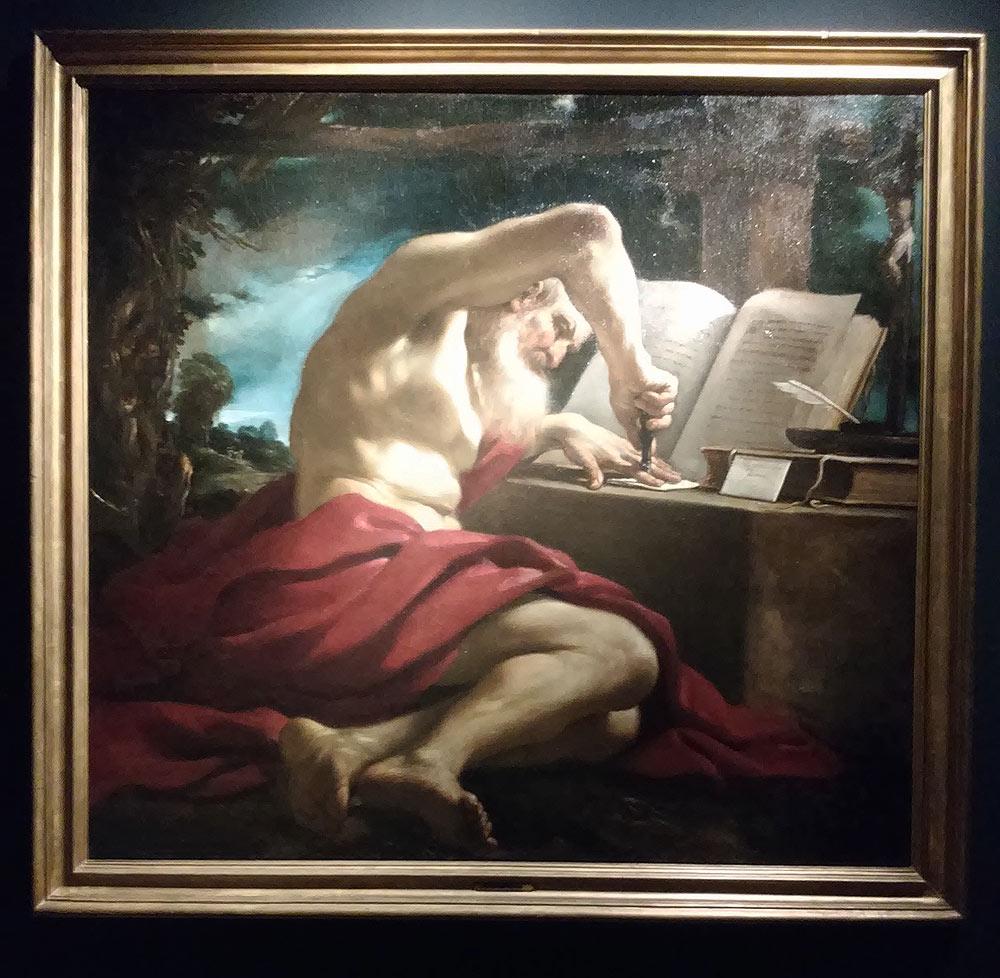 Guercino, San Girolamo nell'atto di sigillare una lettera