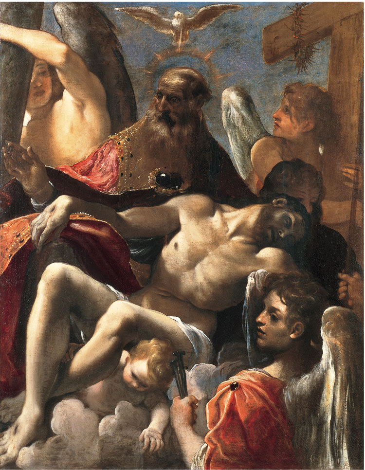 Ludovico Carracci, Trinità con Cristo morto
