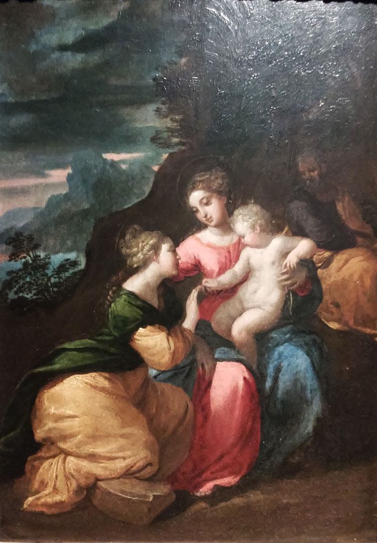 Scarsellino, Matrimonio mistico di santa Caterina