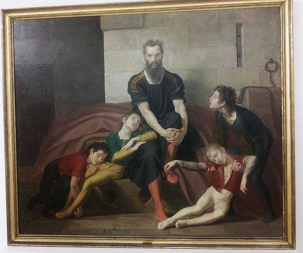 Giuseppe Diotti, Il conte Ugolino nella torre