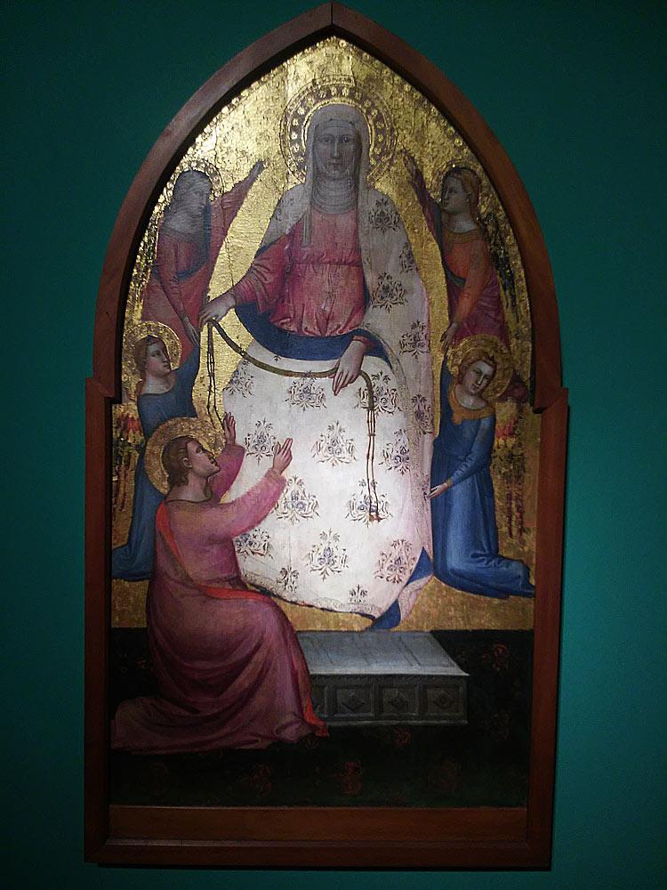 Lorenzo di Bicci, La Madonna assunta che dona la cintola a san Tommaso, e quattro angeli