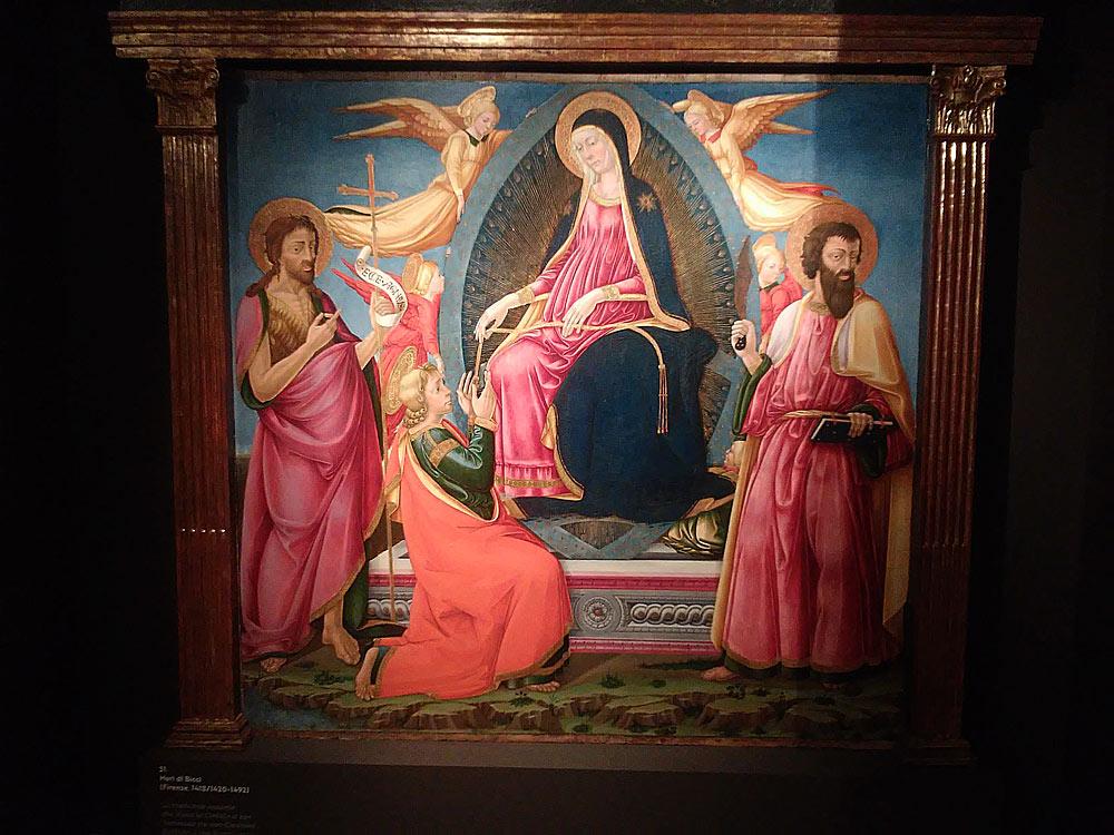 Neri di Bicci, La Madonna assunta che dona la cintola a san Tommaso fra san Giovanni Battista e san Bartolomeo