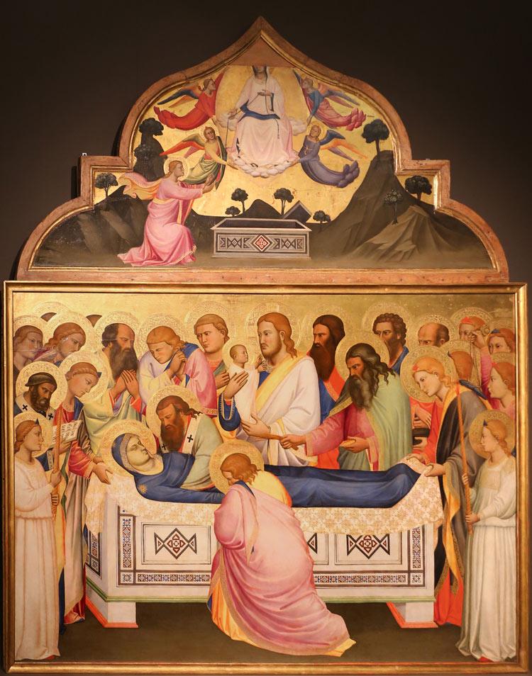 Niccolò di Pietro Gerini, Dormitio Virginis e Assunzione della Vergine
