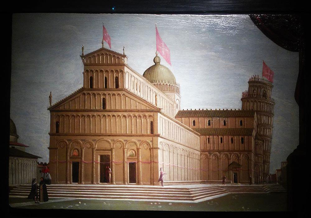 Pietro Ciafferi, Veduta del Duomo di Pisa in occasione dell'allestimento della cintola