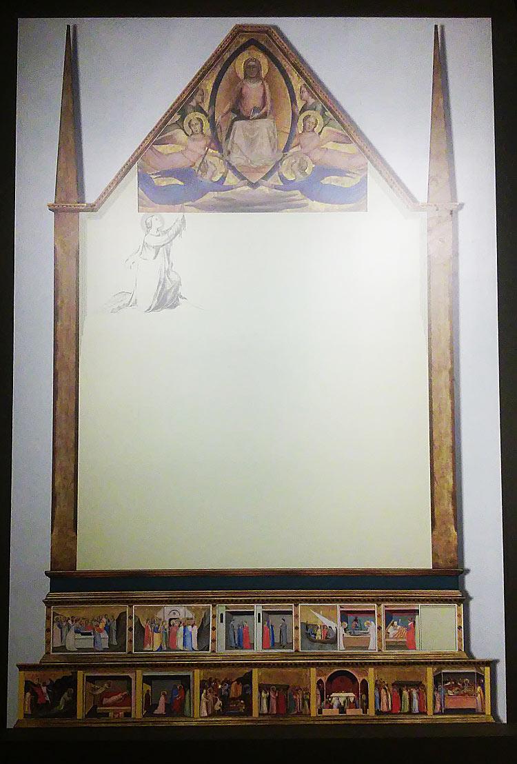 Ricostruzione della pala di Bernardo Daddi