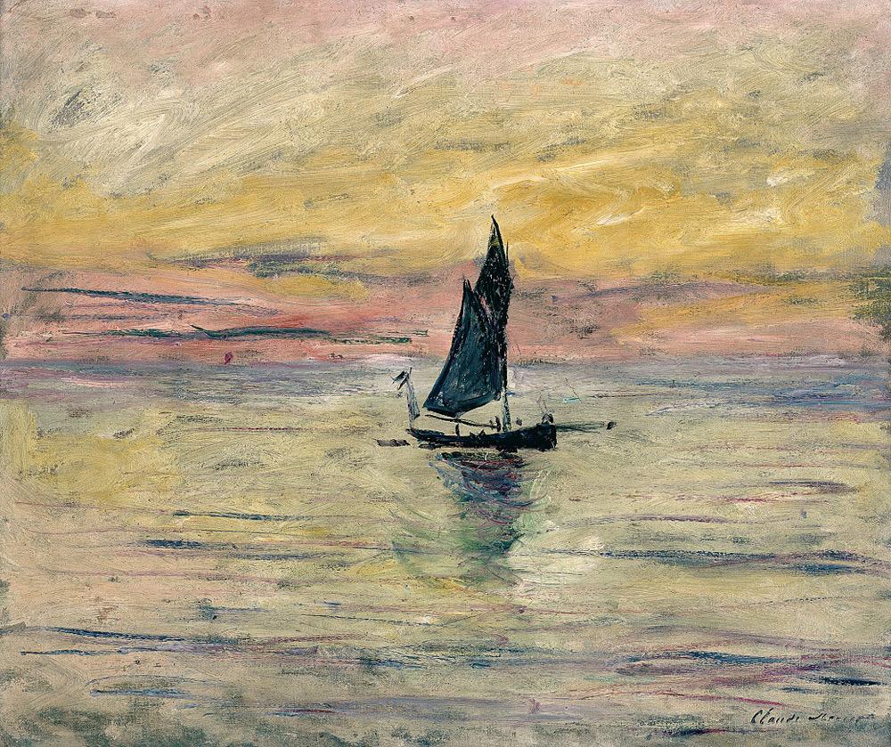Claude Monet, Barca a vela. Effetto sera