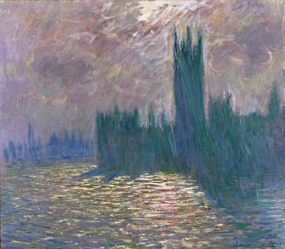 Claude Monet, Londra, il Parlamento. Riflessi sul Tamigi