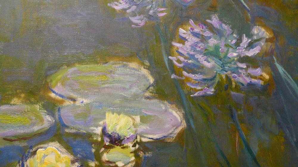 Claude Monet, Ninfee e agapanti, dettaglio