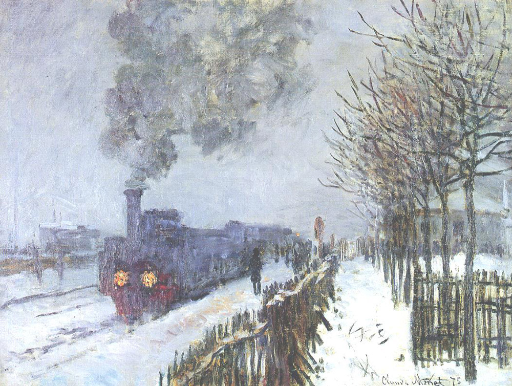 Claude Monet, Il treno nella neve. Locomotiva