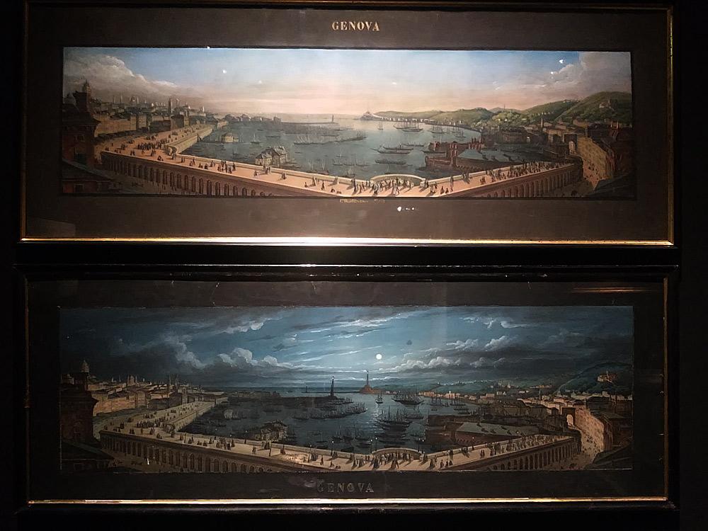 Carlo Bossoli, Le terrazze di marmo (giorno) e Le terrazze di marmo (notte)