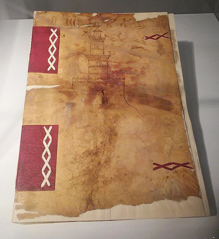 Copertina del registro di conti dei Salvatori del porto e del molo