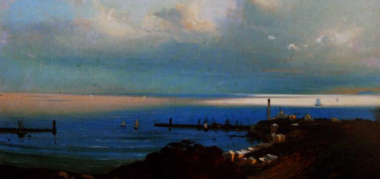Ippolito Caffi, Genova. Con effetto di temporale