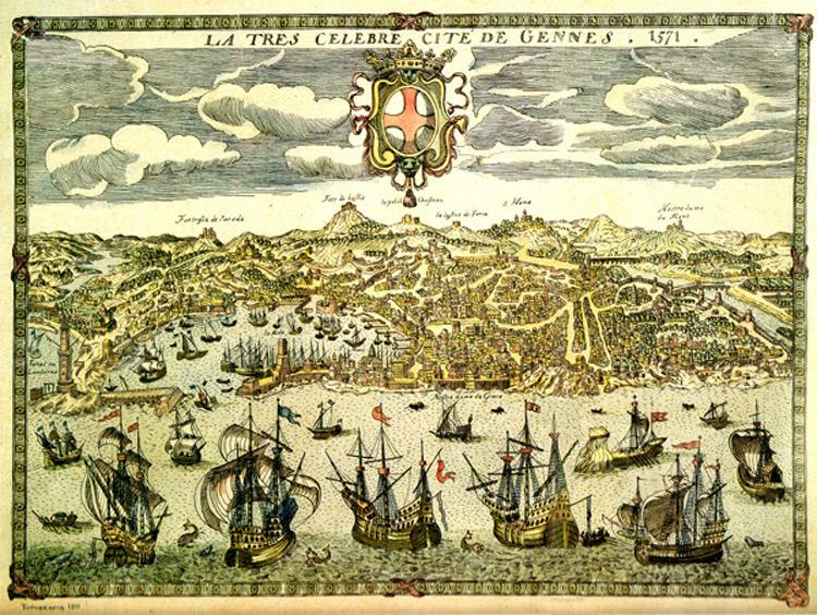 Anonimo del XVI secolo, La tres celebre cité de Gennes. 1571