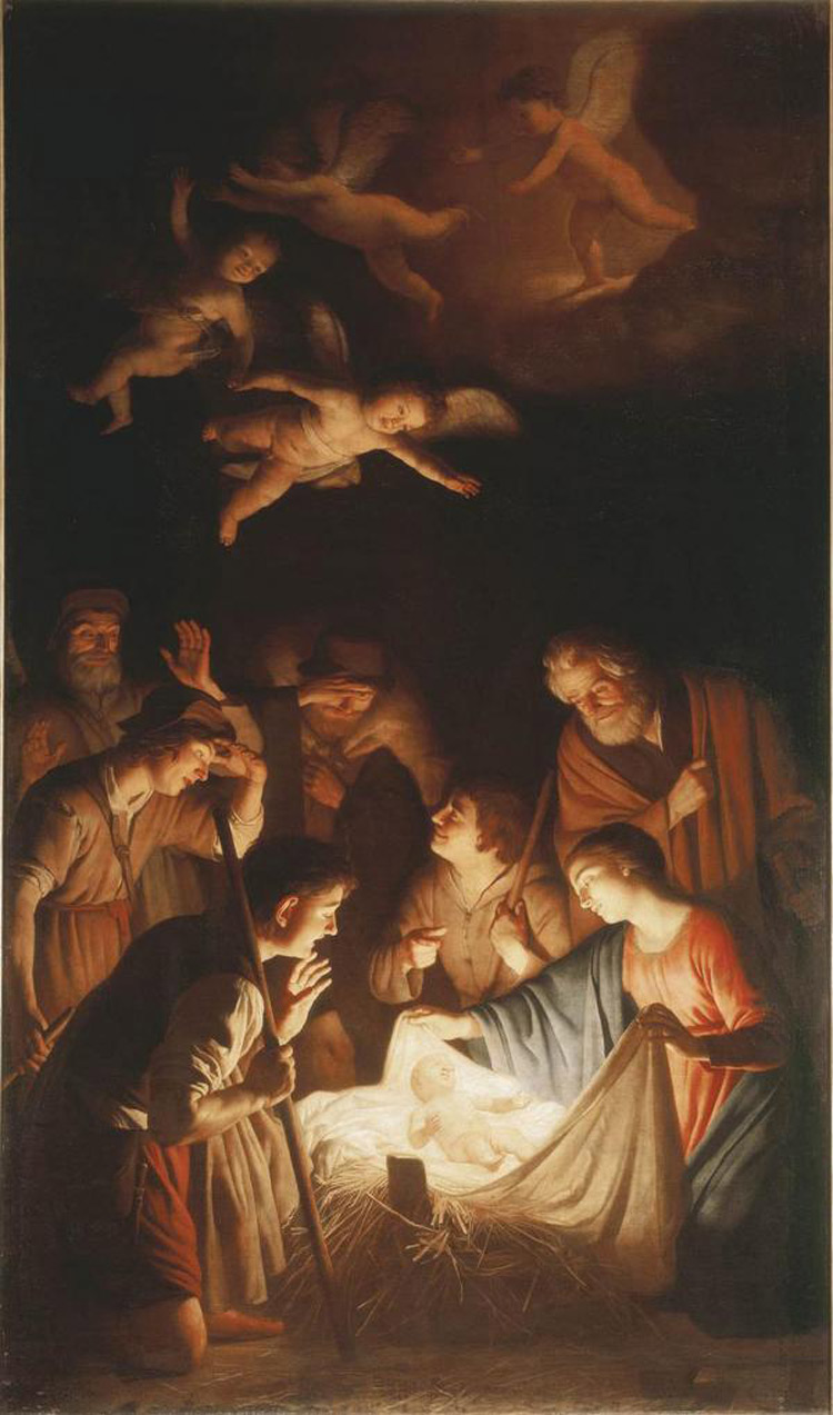 Gerrit van Honthorst, Adorazione dei Pastori prima della strage dei Georgofili