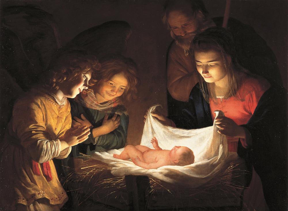 Gerrit van Honthorst, Adorazione del Bambino